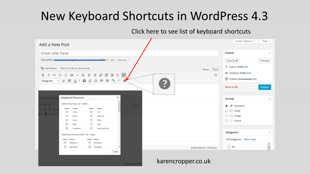 WordpresshortcutsDiag