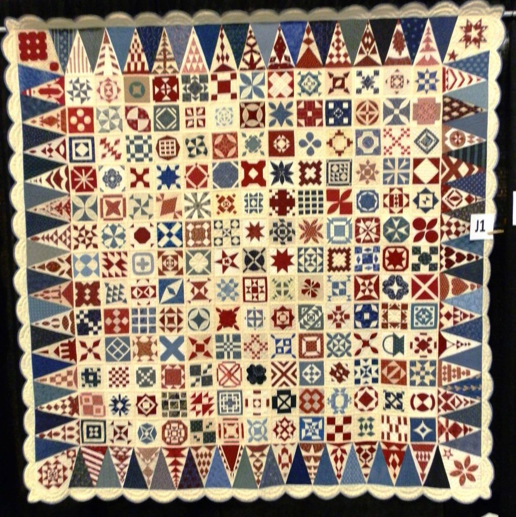 Sampler Quilt by Jane A. Blakely Stickle finished in 1863