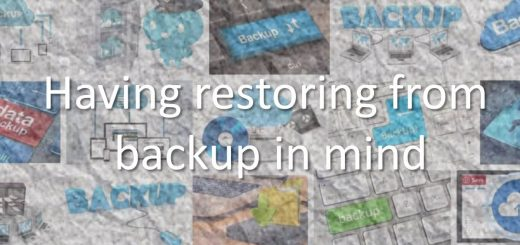 Having restoring from backup in mind
