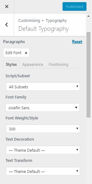 Using Easy Google Fonts Plugin